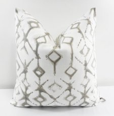 Ecru Tribal Pillow Case $22